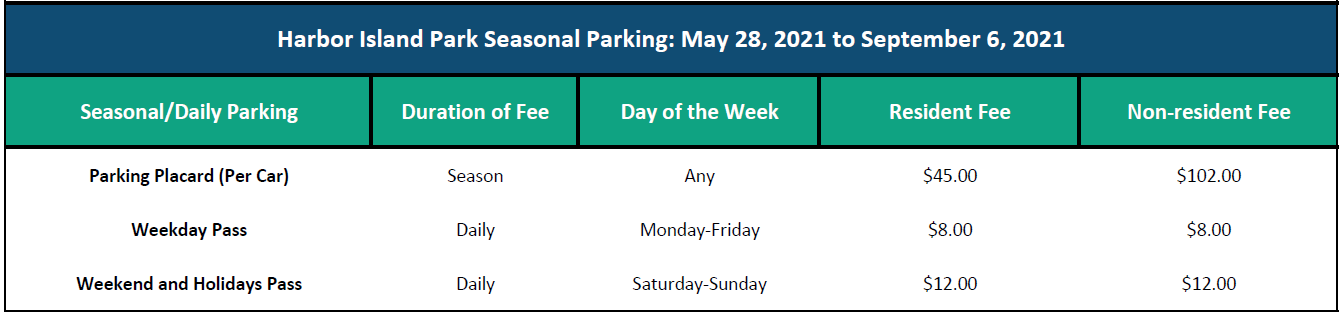 2021 Parking Fees