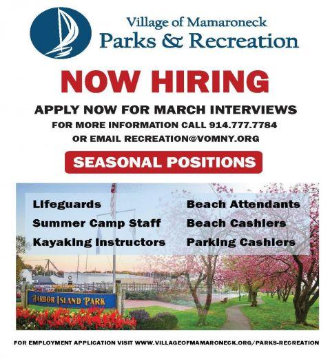Employment Flyer in Parks & Recreation
