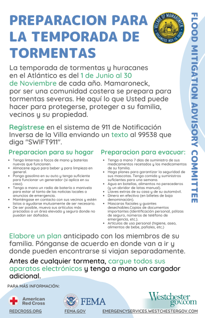 Storm Season Readiness Flyer SMALL SPANISH PNG