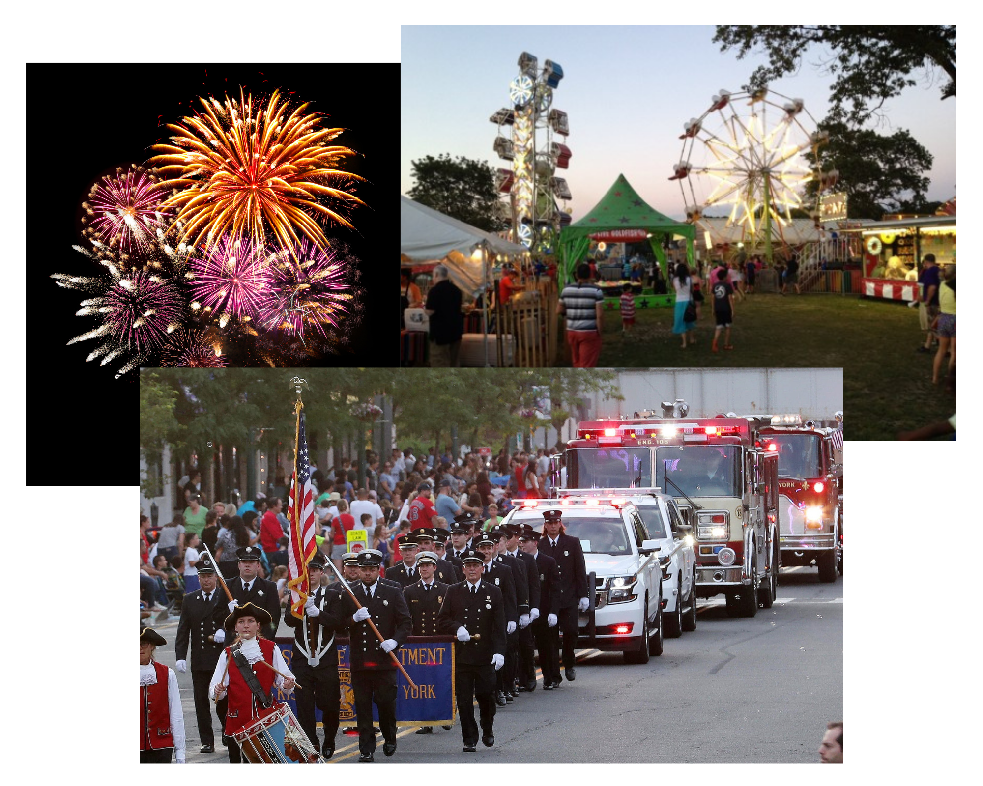 Firemen's Collage PNG