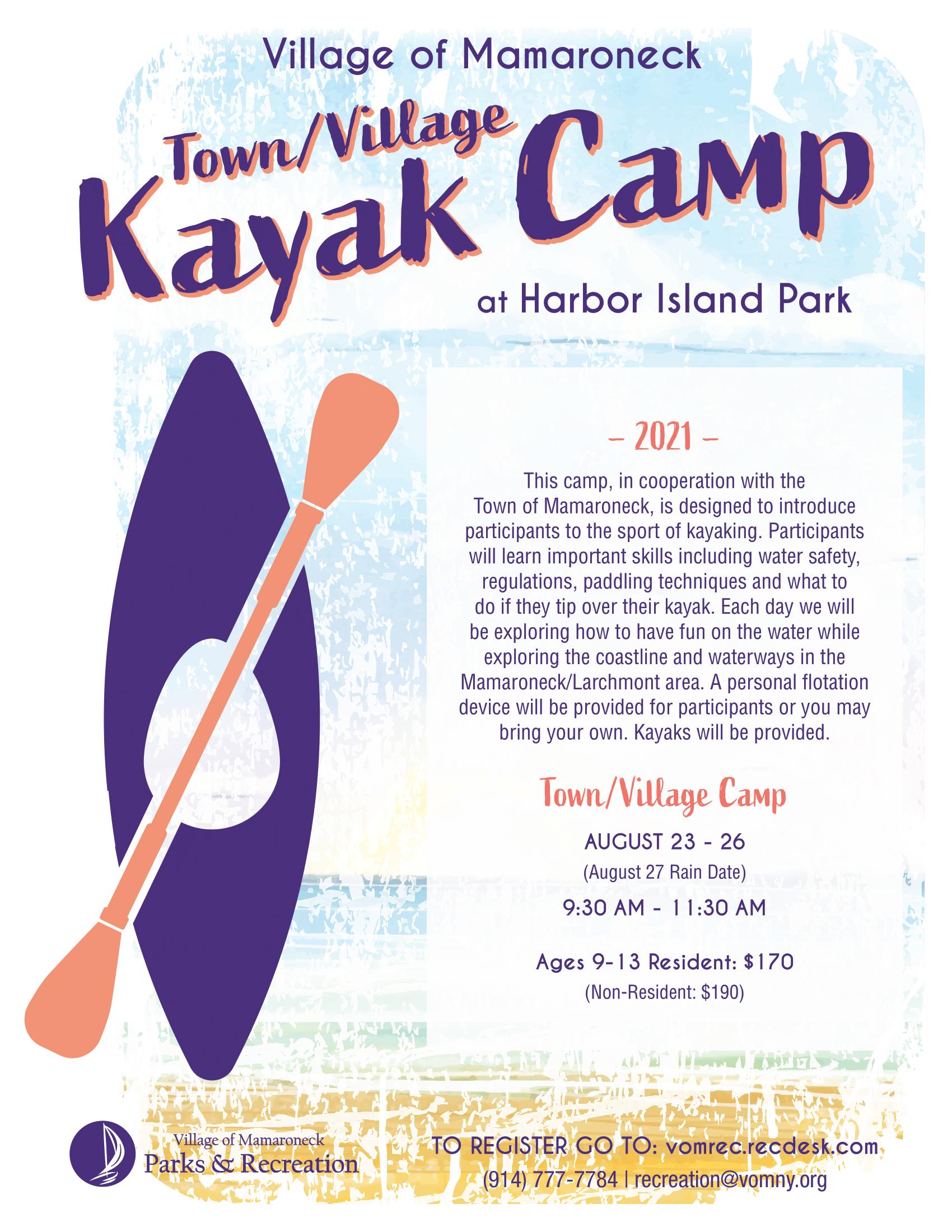 Town Village Kayak Camp 2021