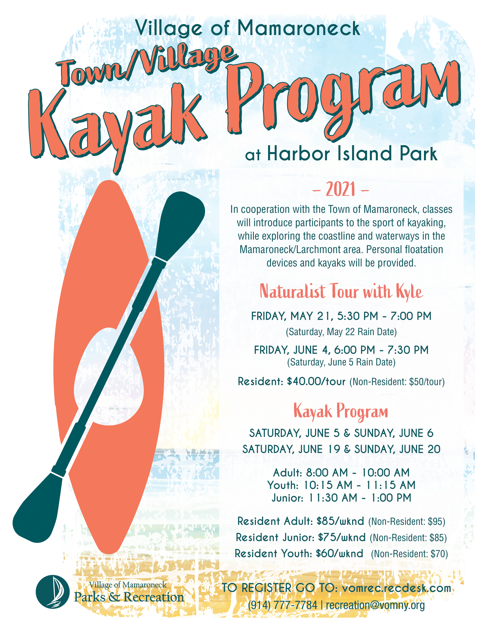 Town Village Kayak Program 2021