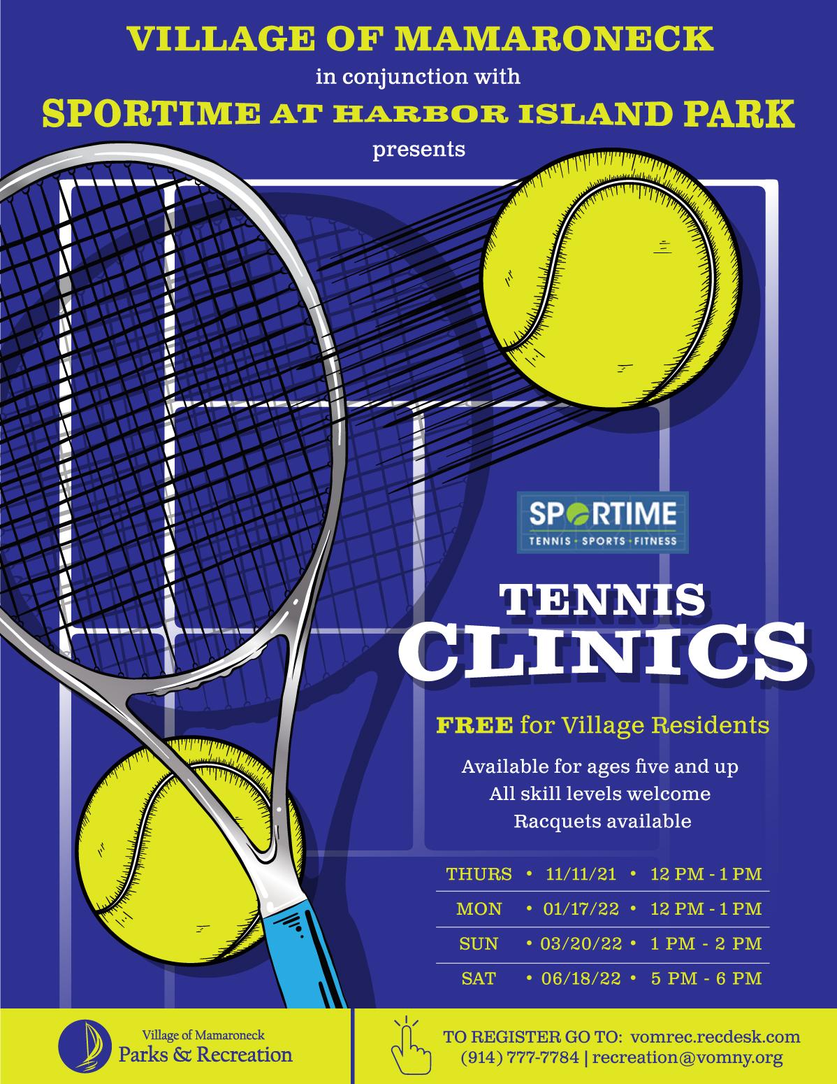 Tennis Clinics 2021 at Harbor Island Park
